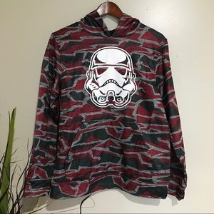 NWOT Star Wars Camp Stormtrooper Pull over Hoodie